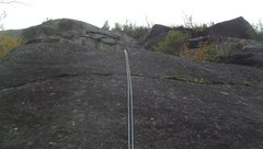 Rock Climbing Photo: Rappelling from birch tree (rappel anchor is now m...