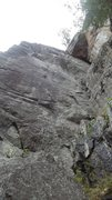 Rock Climbing Photo: View looking up from the base, Labat-Ami on the ri...