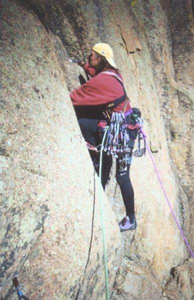 Pete Hubbel climbing Da Butts.