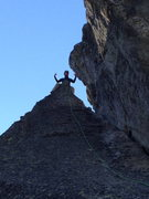Rock Climbing Photo: Atop the Snapper, above the anchors.