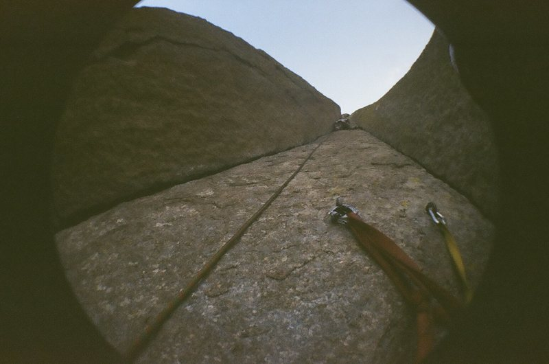 Rock Climbing Photo: Cool shot up the stem box. taken by my cousin
