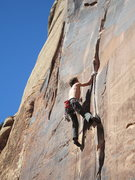Rock Climbing Photo: The lower crux.