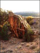 Rock Climbing Photo: Lily Pad Promise problem on Bride Boulder.