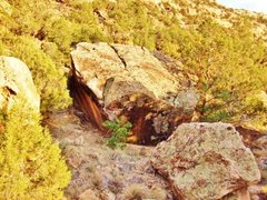 Rock Climbing Photo: Groom Boulder as seen when approaching from the pa...