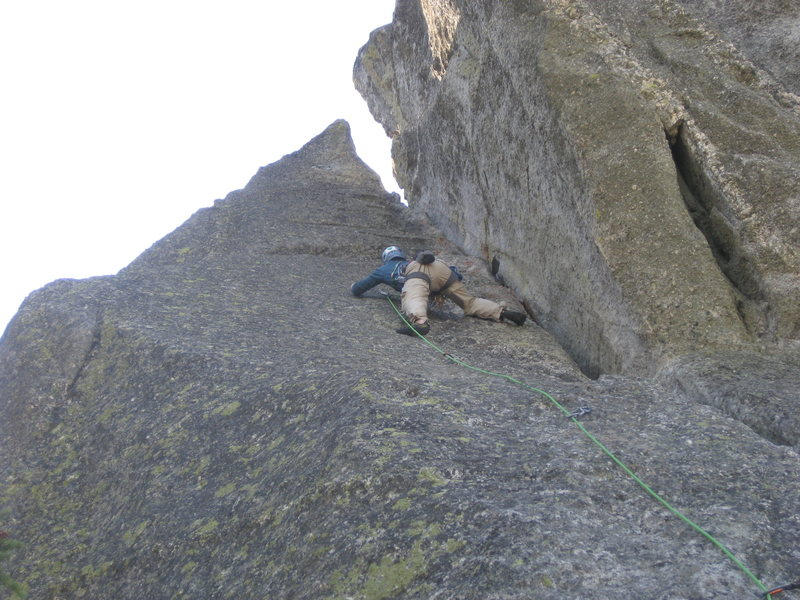 Rock Climbing Photo: Nice slab climbing on nubs.