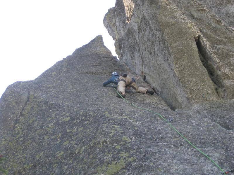 Nice slab climbing on nubs.