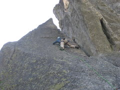 Rock Climbing Photo: Nice slab climbing on nubs.