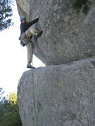 Rock Climbing Photo: Cruxy start---don't mess it up or it'll hurt--firs...