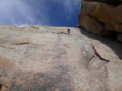 Rock Climbing Photo: leading on Walts