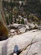 Rock Climbing Photo: looking down from the second anchors