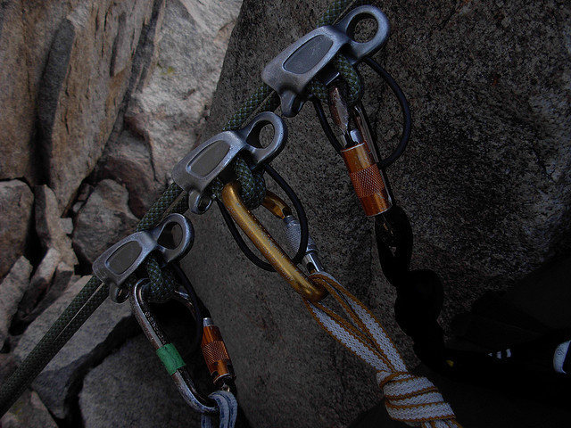 Rock Climbing Photo: Pre-rigged rappels