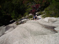 Rock Climbing Photo: Paul on P1 Carter Ledge Direct.