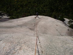 Rock Climbing Photo: Paul Segal at the P3 belay at the upper thread.