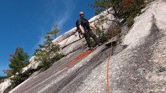 Rock Climbing Photo: Brad White at the belay Tree P1. Photo by Matt Pee...