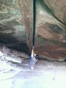 "Rock Climbing Photo: crackhouse ""birth canal"""