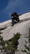 Rock Climbing Photo: Brad White climbing the small headwall at the star...