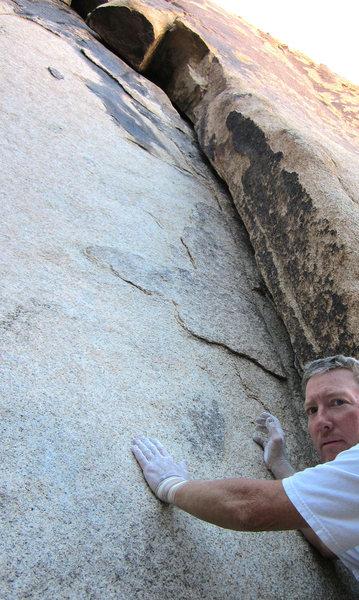 Rock Climbing Photo: The start of Dry Rain and Gomer Pyle.