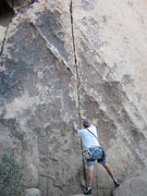 Rock Climbing Photo: The thin crack start of Conniption leading up to t...