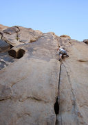 Rock Climbing Photo: Midway up before crossing over to the crack just v...
