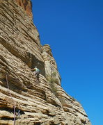 "Rock Climbing Photo: Jason on FA of ""Road to Nowhere"" pitch- ..."