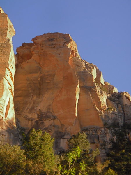 Rock Climbing Photo: Damfino tower on approach with afternoon light. Le...