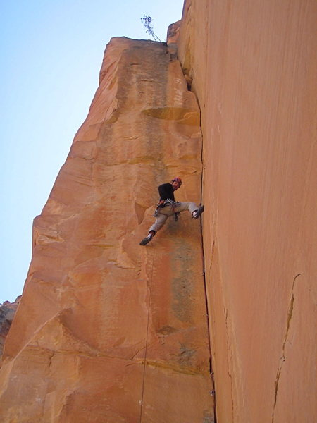 Rock Climbing Photo: Jason on the money pitch!