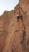 Rock Climbing Photo: Casey on lead