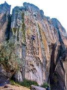 Rock Climbing Photo: Brent cruising up Putas Chicas