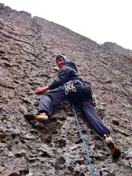 Rock Climbing Photo: Starting up this classic warmup on the Placa Verde