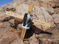 Rock Climbing Photo: Sometime over the long hot summer this memorial an...