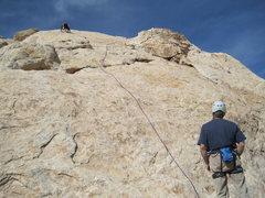 Rock Climbing Photo: Higher on P1