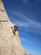 Rock Climbing Photo: Gene on P2