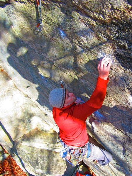 Rock Climbing Photo: Going into the upper crux