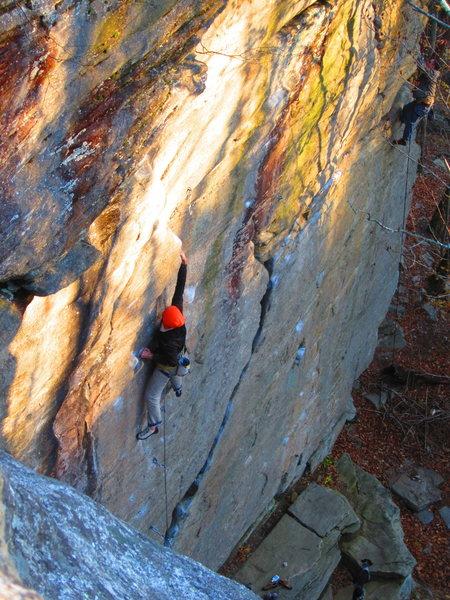 Rock Climbing Photo: Leif on Shape Shifter