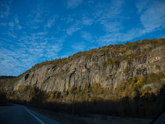 Rock Climbing Photo: Main cliff from road.
