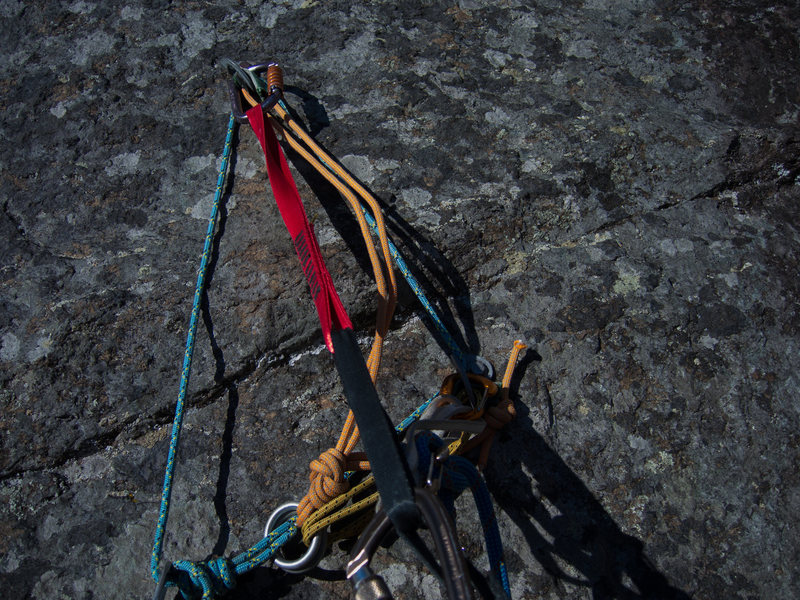 Rock Climbing Photo: P1 anchor.