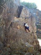 Rock Climbing Photo: Rough on the FA of Diagon Alley.