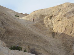 Rock Climbing Photo: The 100' rap into the amphitheater