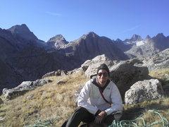 Rock Climbing Photo: Titcomb basin, after climbing some practice cliffs