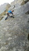 Rock Climbing Photo: Dylan Randall towards the end of the face section ...