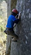 Rock Climbing Photo: Pulling through a difficult section of Drifter