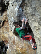 Rock Climbing Photo: Upper pump crux