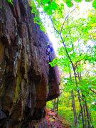 Rock Climbing Photo: Ryan on Optimus Prime.