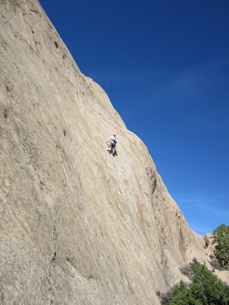 Rock Climbing Photo: Andy on 180' P3. Nice pitch