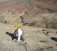 Rock Climbing Photo: Andy top of P5