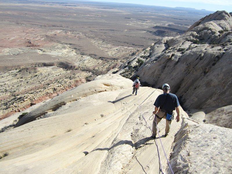 Rock Climbing Photo: Descending back down the south ridge