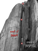 Rock Climbing Photo: Crack of Doom and Crack of Despair as seen from th...