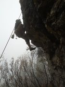 Rock Climbing Photo: me gettin over the crux