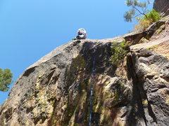 Rock Climbing Photo: At the third clip.