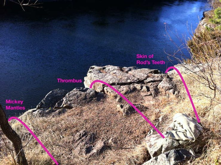 Rock Climbing Photo: top of climb and anchor location